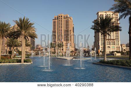 Fountain At The Pearl, Doha Qatar