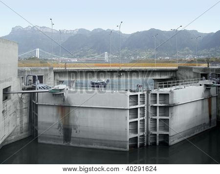 Three Gorges Dam Detail