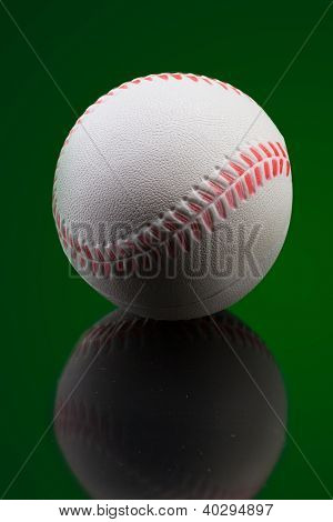 Golf ball lon green background