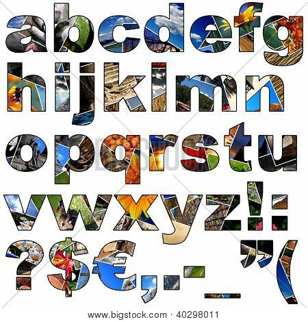 Photo Collage Alphabet - Lowercase