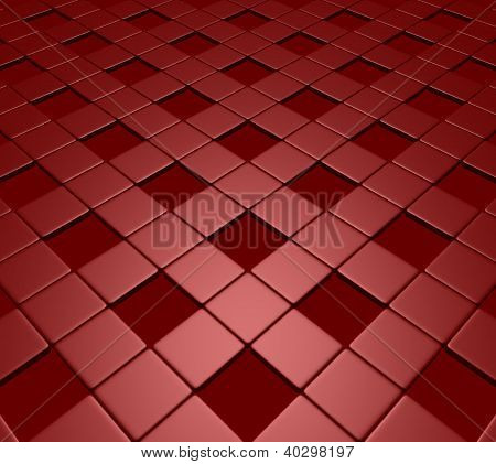 red fleeing tiles