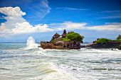 stock photo of hindu  - The Tanah Lot Temple - JPG