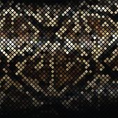 image of anaconda  - Dark mosaic imitating a snake skin - JPG