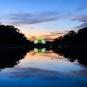 Lincoln Memorial at sunset - Washington DC United States