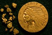 stock photo of gold nugget  - 1911 United States  - JPG