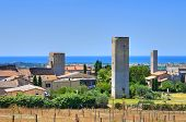 Panoramic view of Tarquinia. Lazio. Italy.