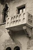 stock photo of william shakespeare  - Monochrome image of famous Juliet balcony from  - JPG