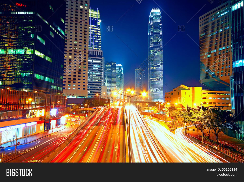 colorful city night lights cars image amp photo bigstock