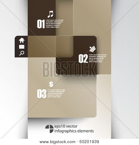 eps10 vector overlapping geometric shapes infographics background