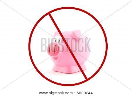 Pig Flu With Ban Sign