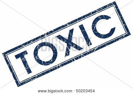 Toxic Blue Square Stamp