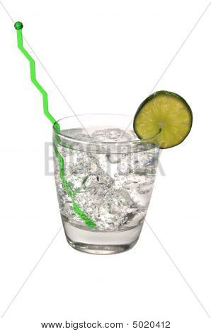 Gin And Tonic, Lime, Swizzle Stick