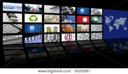 Video Tv Screen Technology And Communications