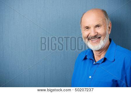 Caucasian Senior Teacher Smiling At Camera