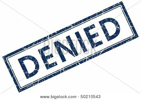 Denied Blue Rectangular Stamp