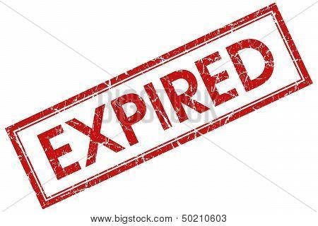Expired Red Rectangular Stamp