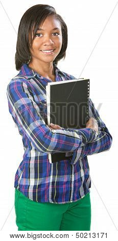 Cute Student With Notebook