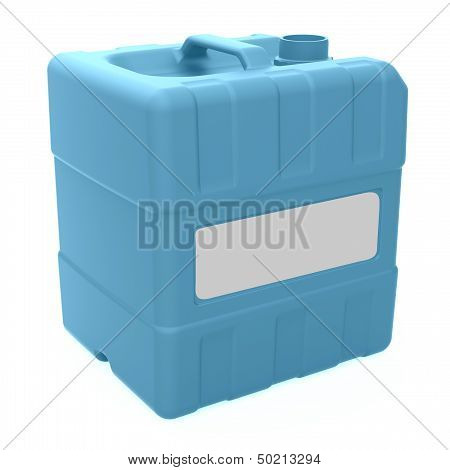 3D Jerrycan With Blank Label