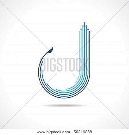 abstract blue arrow logo stock vector