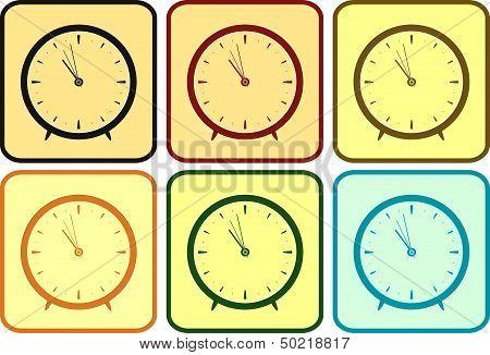 set colorful clock