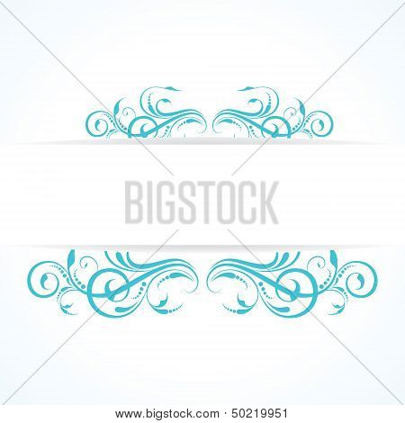 creative floral vintage design background