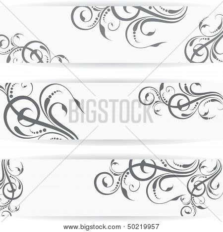 Website header or banner set with beautiful floral design