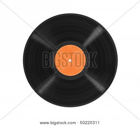 Old vinyl  LP record album isolated with clipping path.