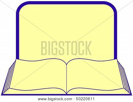 book with frame and place for text