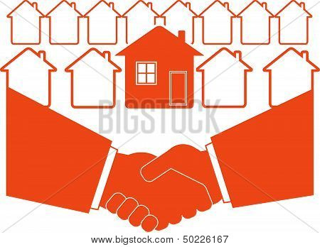 business handshake symbol real estate