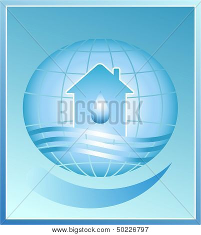 blue planet. house, water