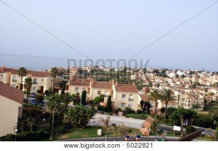 Aerial View Of Spanish Resort