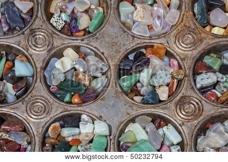 Polished Stones In Baking Tray