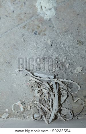 Dirt Cracked Of Cement Floor In Construction Site