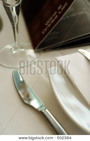 Knife And Napkin