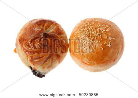 Char Siu Bun And Salted Egg Bun