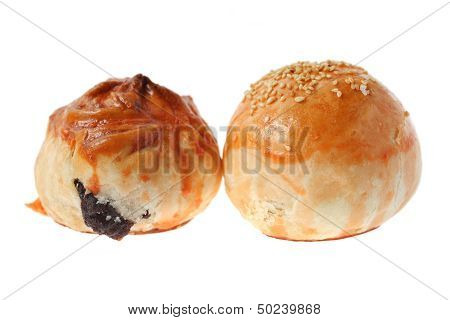Char Siu Bun And Salted Egg Bun