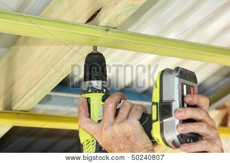 Putting Up Ceiling Battens