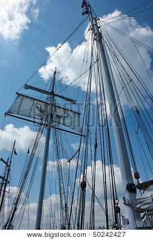 Sailing Masts Of Wooden Tallships