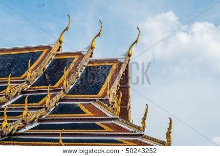 Roof Of A Temple In Wat Phra Kaew