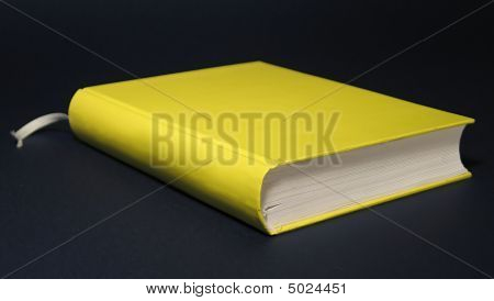 Yellow Book On The Cyan Background. Euro Book