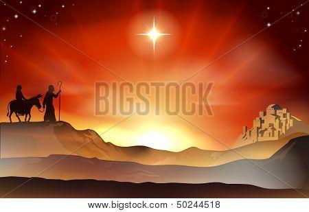 Nativity Christmas Story Illustration