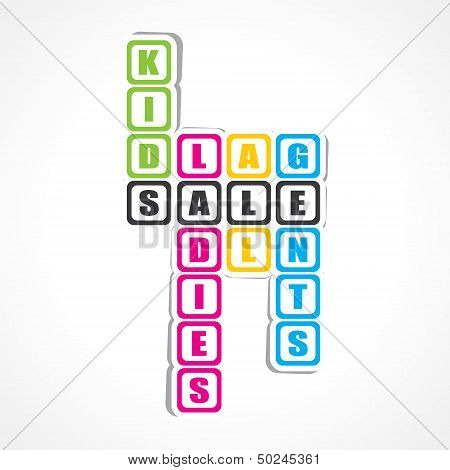 Sale for ladies ,gents and kids sticker