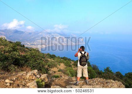 Photographer And Traveler Photographs Beautiful Seascape