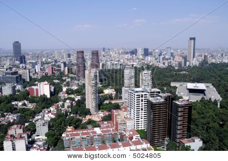 Mexico City Financial District Skyline