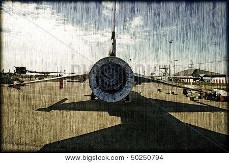 Vintage F16 From Behind