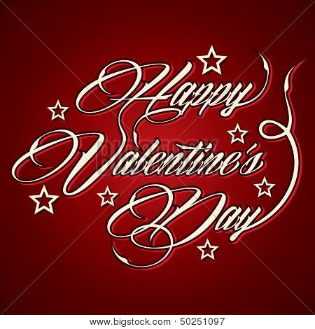 Creative Happy Valentine's Day greeting stock vector