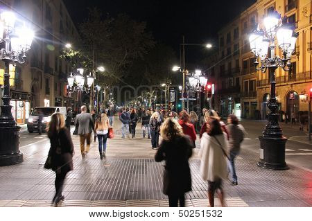 Rambla At Night