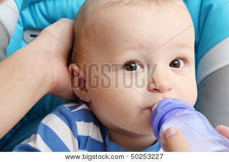 Baby Drinks Baby Milk