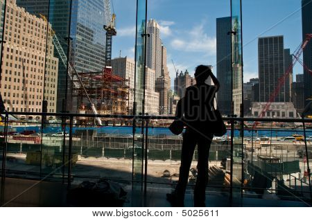 People Looking At World Trade Center Site