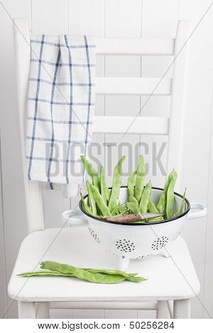 Green Beans In Colander